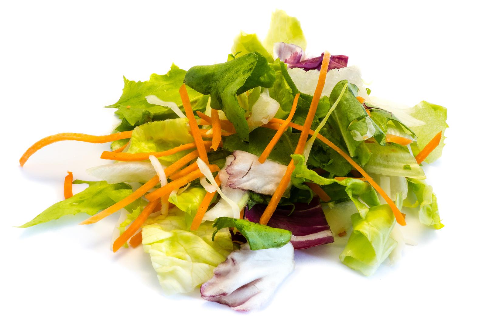 Fresh Mixed Salad Isolated On White Background Mister Produce